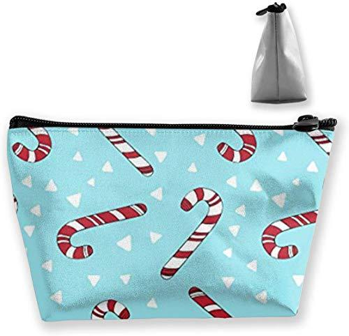 Sac à cosmétiques trousse de toilette organisateur de voyage femmes poche de sac de maquillage portable, porte-stylo papeterie pochette à crayons sac de rangement cadeau (cannes de bonbon de