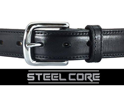 Daltech Force Dress Italian Leather Steel Core Gun Belt (Black, 36) 1017DW-18