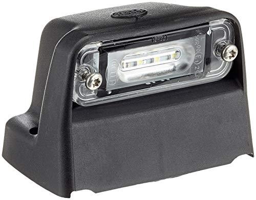 HELLA 2KA 010 278-421 Kennzeichenleuchte - LED - 12V - Lichtscheibenfarbe: glasklar - Anbau/geschraubt - Stecker: Flachstecker - Einbauort: Aufbau/seitlicher Anbau