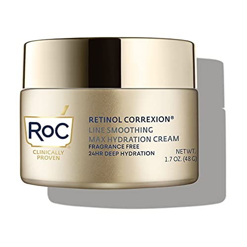 RoC Retinol Correxion Fragrance-Free Max Daily Hydration Anti-Aging Crème with Hyaluronic Acid, 1.7 Ounces