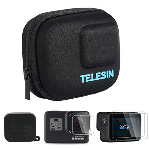 AuyKoo Mini Estuche Portátil para GoPro Hero 7 6 5 Black, Bolsa Protectora de Viaje Protector de Lente Protector Kit de Accesorios