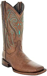Soto Boots Women's Broad Square Toe Cowboy Boots M50037...