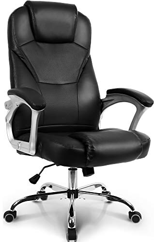 Neo Chair Office Chair Computer Desk Chair Gaming - Ergonomic High Back Cushion Lumbar Support with Wheels Comfortable Black Leather Racing Seat Adjustable Swivel Rolling Home Executive…