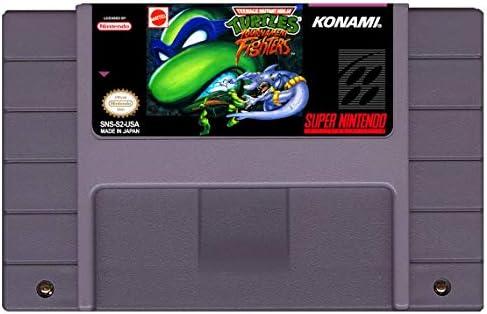 Teenage Mutant Ninja Turtles TMNT Tournament Fighters Super Nintendo SNES Reproduction Cartridge product image