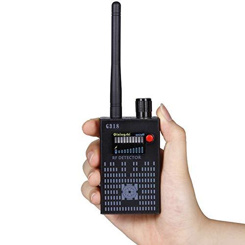 JYMDH Vigilancia GPS Escáner De Radio Rader,Anti Spy Inalámbrico Detector De Señal RF,Error Cámara Oculta Estenopeica-Negro