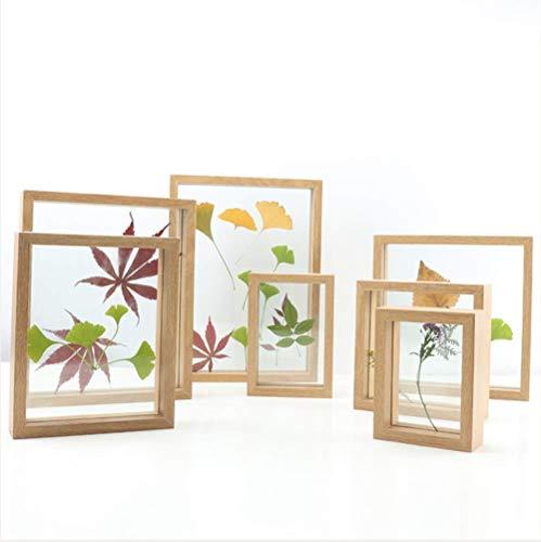 Nieuwe creatieve planten Gedroogde bloemen en bladeren Specimen Frame fotolijst dubbelzijdig glas fotolijst Set 11.5 * 15.7cm