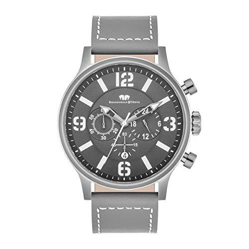 Rhodenwald & Söhne Reloj para Hombre análoga Japón Mecanismo de Cuarzo con Correa de Cuero Real 10010319