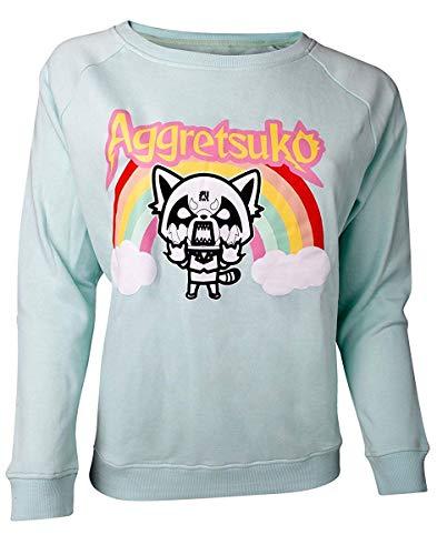 Aggretsuko - Rage Women's Sweater Green-XL