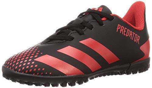 Adidas Predator 20.4 TF J, Zapatillas Deportivas Fútbol Unisex Infantil, Negro (Core Black/Active Red/Core Black)