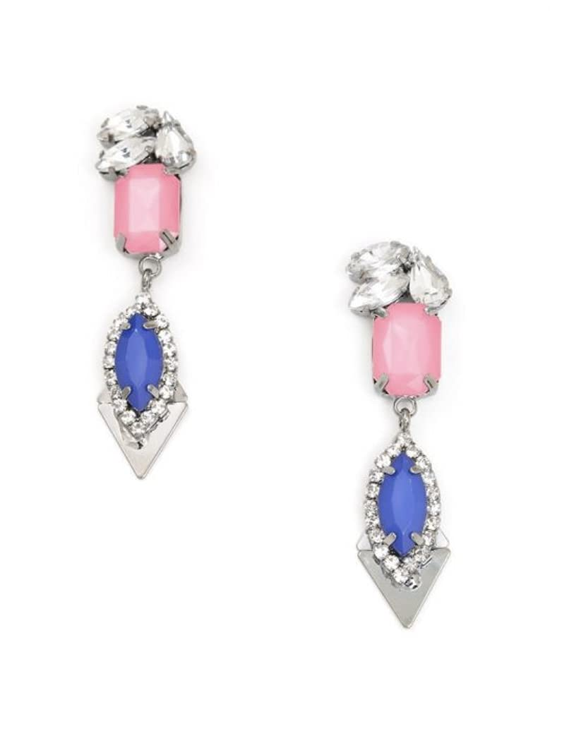 Cobalt blue Max 75% Mail order OFF and pink earrings