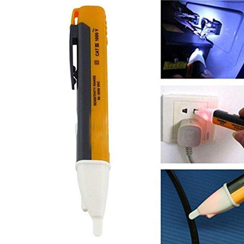 fomccu alerta de tensión sin contacto pluma 90–1000V AC LED luz bolsillo detector Tester