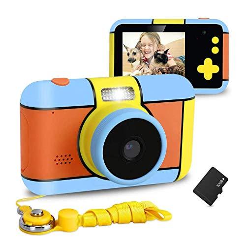 LXSMXJ Cámara niños, Recargable de la cámara Digital for niños con 2,4 Pulgadas LCD y Tarjeta de Memoria 32G 1080P HD a Prueba de Golpes