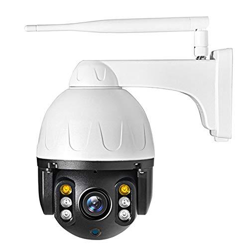 Smart Camera HD cámara domo al aire libre Cámara IP Wifi 1080P 2.4G Seguridad con Pan Tilt, Detección de color visión nocturna audio de dos vías de movimiento IP66 a prueba de agua, Soporte tarjeta má