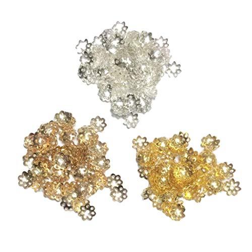 oshhni 900pcs Metal Flower Caps End Caps Jewelry Making Findings