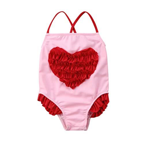4-10 Kinderen Kinderen Baby Meisjes Badmode HROI YSL Sling Cartoon Star Badpak Bikini Beach Print Een Stuk Badmode Navy 4T 6T 8T 10T