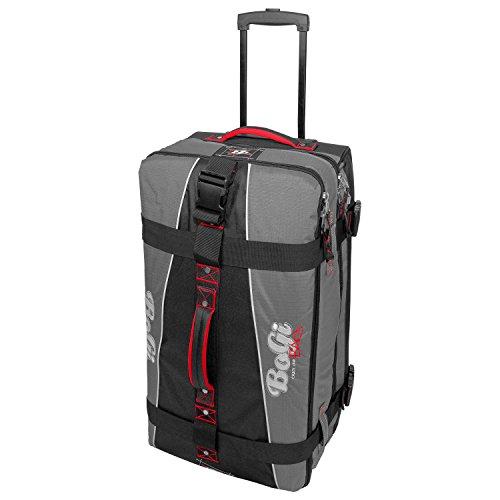 BoGi Bag Durchläufer Koffer, 71 cm, 85 L, Grau/Schwarz