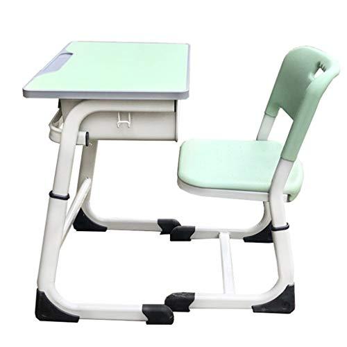 Barn Skrivbord Och Stol Set Höj- Och Sänkbar Ergonomisk, Studera Skolbord Skrivbord, Barnskrivbord,Childs Study School Table Lämplig För Skolan, Rådgivning Kurs (Color : Green)