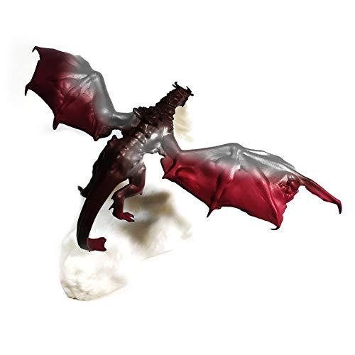 Cakunmik 3D-Druck Feuer-Atmung-Drache-Nachtlicht Fliegende Drachen-Ornamente vulkanische Lava-Lampe Eisdrache Dinosaurier kreatives Geschenk Weihnachten,A