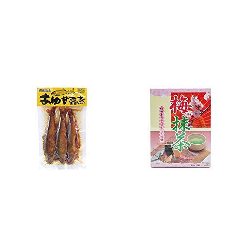 [2点セット] あゆ甘露煮(3匹入)・梅抹茶[小](12袋)