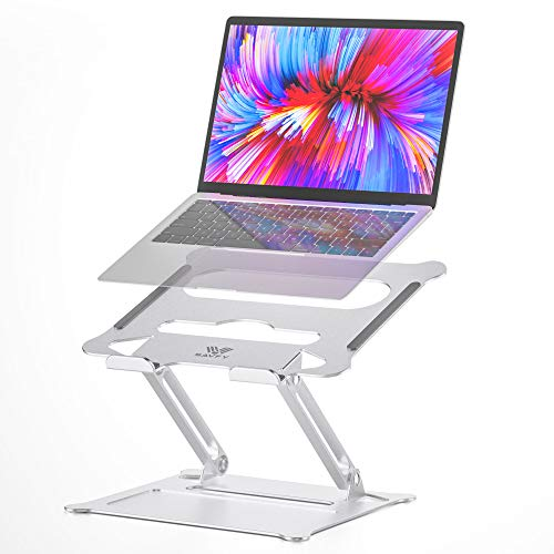 "SAVFY Laptop Stand, Ergonomic Multi-Angle Height Adjustable Laptop Stand Holder, Aluminum Light Weight Portable Notebook Stand for MacBook Air Pro, Dell XPS, Lenovo More 10-17"" Laptops"