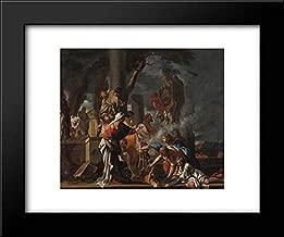 King Solomon Sacrificing to The Idols 18x15 Framed Art Print by Sebastien Bourdon