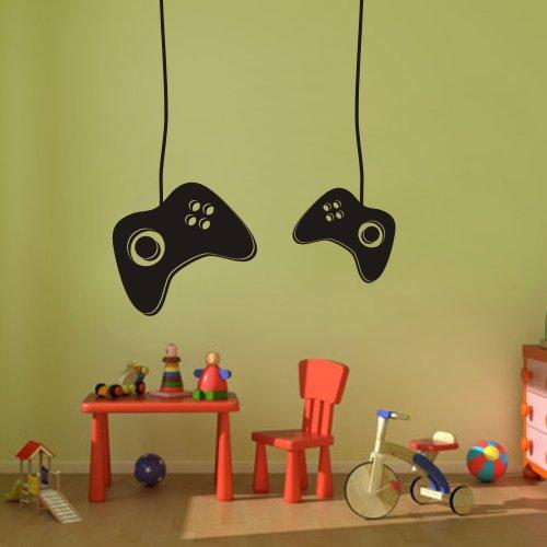 Etiqueta de la pared laptronix videojugador Video juego de pegatinas de vinilo Mural de la habitaci/ón de los ni/ños