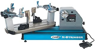 Gamma X-ES Tennis Stringing Machine, Blue/Silver