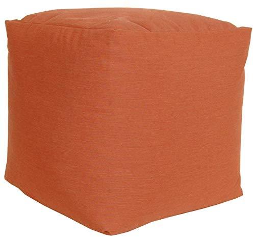 RULU 02262 Ottoman Outdoor/Indoor Sunbrella Pouf 18 inch x 18 inch x 18 inch, Canvas Brick