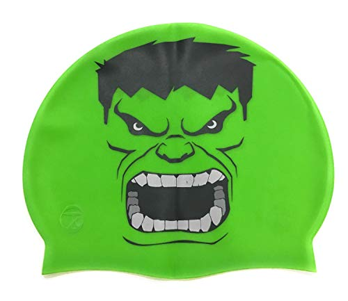 Gorro de silicona Hulk | Gorro de Natación| Alta comodidad y adherencia | Diseño y estilo italiano