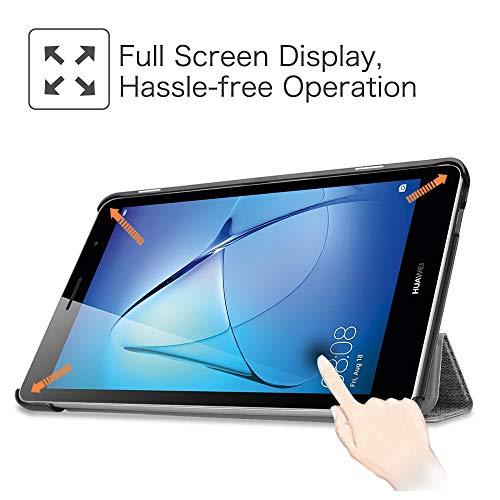 Fintie Huawei Mediapad T3 8 Hülle Case - Ultra Dünn Superleicht SlimShell Ständer Cover Schutzhülle Tasche mit Zwei Einstellbarem Standfunktion für Huawei T3 20,3 cm (8,0 Zoll), Denim dunkelgrau - 2