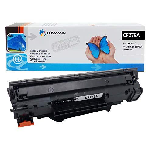 LOSMANN 1 X cartuccia toner compatibile per HP CF279A CF279 CF-279 A 279A 79A per HP LaserJet Pro M12, M12a, M12 Series, M12w, MFP M26a, MFP M26nw, MFP M26 Series (1000 pagine nere)