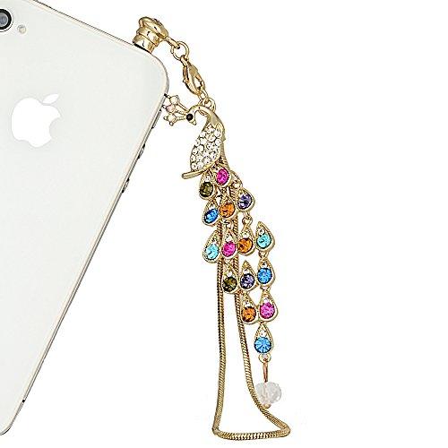 Enchufe a prueba de Mavis's Diary Auricular Jack accesorios del móvil // / Jack enchufe del polvo para el iphone 4 4S 5 5S 6 6S/ipad/ipod Samsung Galaxy/otros/Touch 3,5 mm Jack oído 3D lindo Serie Animal, compatible con Apple iPhone 5