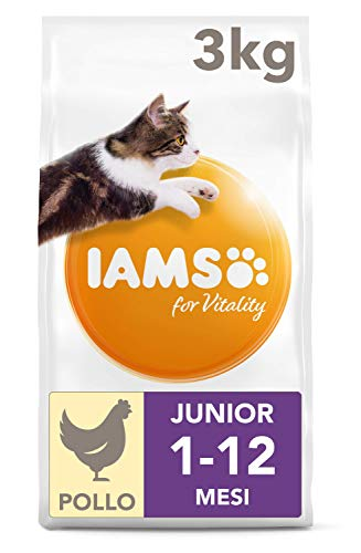 IAMS for Vitality Cibo Secco con Pollo Fresco Specifico per Gattini, 3 kg