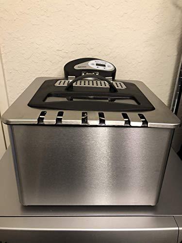 Aroma Housewares ADF-212 Smart Fry XL Digital Dual-Basket Deep Fryer