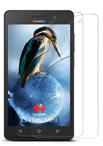 2X Huawei G Play Mini | Schutzfolie Klar Bildschirm Schutz [Crystal-Clear] Screen Protector Display Handy-Folie Dünn Bildschirmschutz-Folie für Huawei G Play Mini/Honor 4c Bildschirmfolie