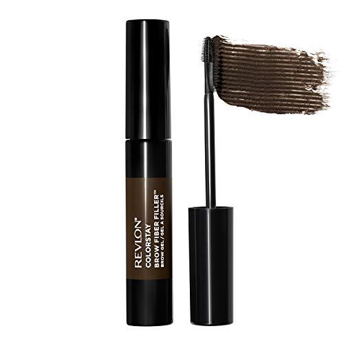 REVLON ColorStay Brow Fiber Filler, Longwearing & Volumizing Waterproof Eyebrow Gel, 305 Dark Brown, 0.23 fl. oz.