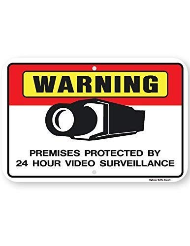 Dark Branches d'avertissement des locaux protégés 24 Heures Surveillance vidéo Sign (Horizontal) 20,3 x 30,5 cm , Aluminun Sign
