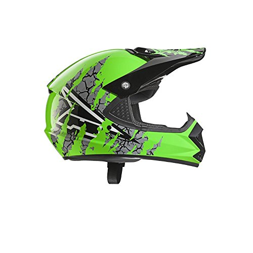 AXO Casco Ninja, verde, talla YL