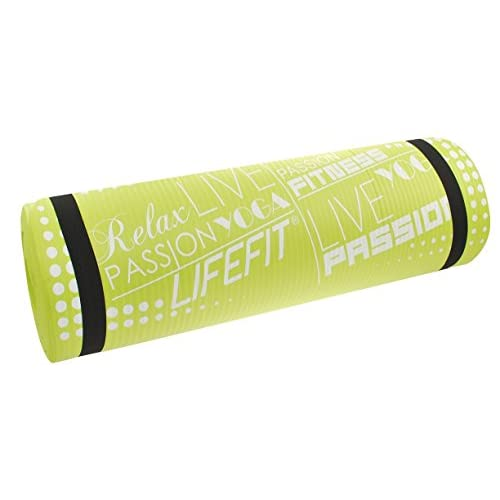 LIFEFIT Exclusive, Yoga Tappetino Unisex – Adulto, Verde Chiaro, 100 x 60 x 1 cm
