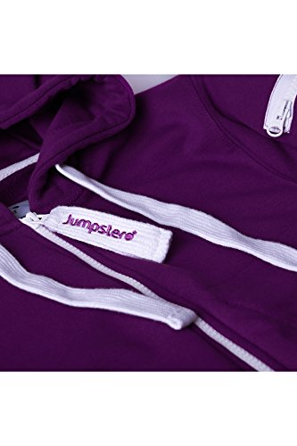 Jumpster Damen und Herren Jumpsuit Langer Overall Second G. Regular Fit Deepest Purple Violett L - 6