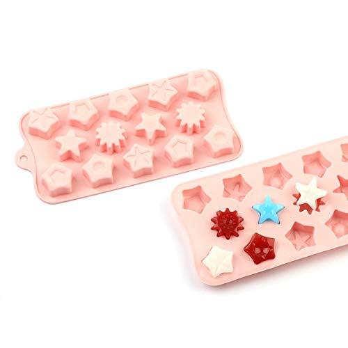 RGHG Silikon-Schokoladen-Form Antihaft-Karikatur 3D-Form-EIS-Form-Kuchen-Form Bakeware Backen-Werkzeuge Küchenhelfer Süßigkeiten Formen PINK (Color : CP 10)