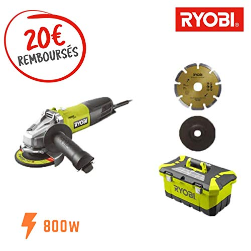 Toolbox RAG800-125TA6 Ryobi Winkelschleifer,...
