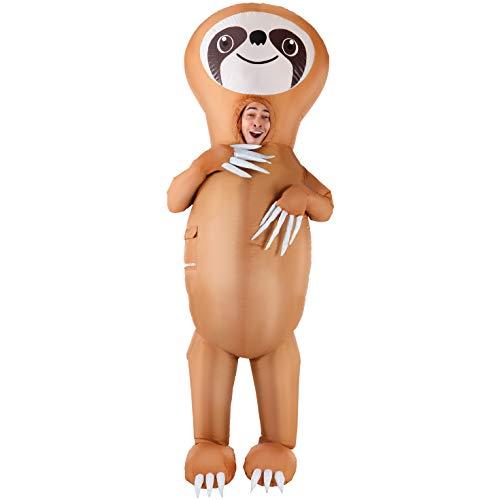 Morph Aufblasbares Faultier Kostüm für Erwachsene, lustiger riesiger Tieranzug, Halloween Karneval Partys