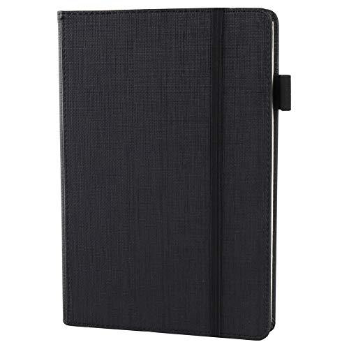 Taccuino,LUOLLOVE 100 fogli Premium Journal A5 + portapenne, quaderno con copertina rigida - Nero (5,8 * 8,3 '')