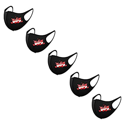 5/6/12 PCS Valentines Day Face_Masks for Adults Reusable Hearts Print Washable Breathable Ice Silk Face Coverings Bandanas, Breathable Adjustable Washable Face Coverings for Couples Lovers