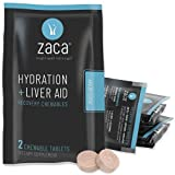 Zaca Recovery Chewable Supplement | Hydration + Liver Aid | Party, Travel, Exercise & Altitude | Sugar Free &...