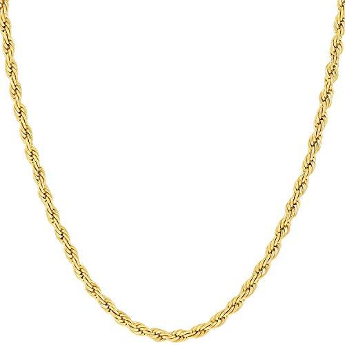 Cadena de oro de 14K de oro amarillo