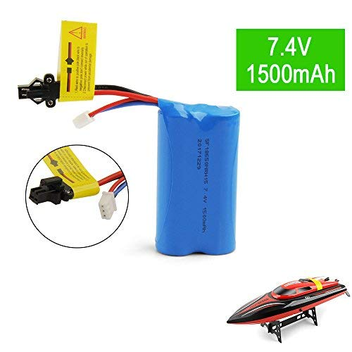 Remote Control Boats Extra Lithum Battery 7.4V 1500mAh Rechargeable Battery for 15C SM Plug for RC Boat Udi U12A Helicopter