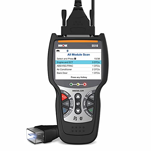 INNOVA CarScan Tech 5510 Code Scanner - Professional OBD2 Code Reader - Network Scan Tool - Smog Check & Live Data - RepairSolutions2 App