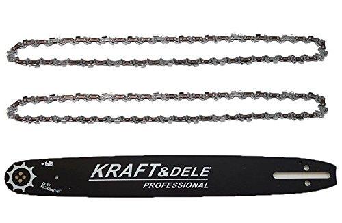 """Épée 2 chaînes Adapté Pour Husqvarna 45 45 Cm 325/"""" 72 TG 1,5 mm chaine de tronconneuse"""